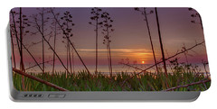 Sunrise Palm Blooms Portable Battery Charger