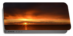 Sunrise Rays Portable Battery Charger by Nancy Landry