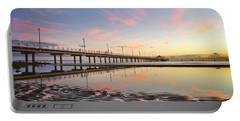Sunrise Reflections At The Shorncliffe Pier Portable Battery Charger