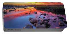 Sunrise Reflections In Harpswell Portable Battery Charger