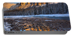 Sunrise Reflections In The Bow River Portable Battery Charger