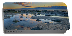 Portable Battery Charger featuring the photograph Sunrise Reflections On Wells Beach by Rick Berk