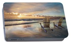 Portable Battery Charger featuring the photograph Sunrise Romance by Debra and Dave Vanderlaan
