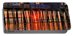 Portable Battery Charger featuring the photograph Sunrise Seascape - Old Orchard Beach Pier - Maine by Joann Vitali