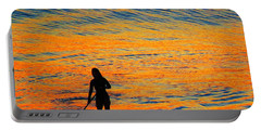 Sunrise Silhouette Portable Battery Charger by Kathy Long