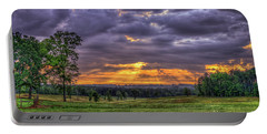 Sunrise Stairways To Heaven Farmland Art Portable Battery Charger by Reid Callaway