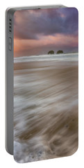 Portable Battery Charger featuring the photograph Sunrise Storm At Twin Rocks by Darren White