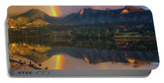 Sunrise Summer Rainbow In Colorado Portable Battery Charger