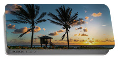 Sunrise Sunburst Palms Delray Beach Florida Portable Battery Charger