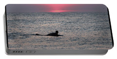 Sunrise Surfing Portable Battery Charger by Robert Banach