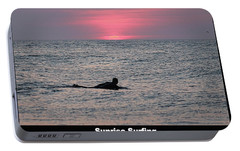 Portable Battery Charger featuring the photograph Sunrise Surfing by Robert Banach