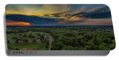 Sunrise Thru The Clouds Portable Battery Charger