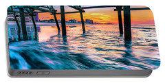 Sunrise Under Cherry Grove Pier Portable Battery Charger