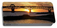 Sunrise Under Coleman Bridge Portable Battery Charger