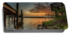 Sunrise Under The Dock Portable Battery Charger