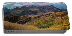 Sunrise View Of Mount Timpanogos Portable Battery Charger