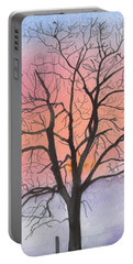 Sunrise Walnut Tree 2 Watercolor Painting Portable Battery Charger