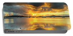 Sunrise Waterscape With Reflections Portable Battery Charger