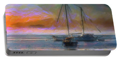Sunrise With Boats Portable Battery Charger