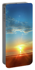 Sunrise With Flare Portable Battery Charger by David Stasiak