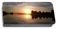 Sunset @ Rend Lake Portable Battery Charger