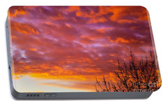 Portable Battery Charger featuring the photograph Sunset 7 by Jean Bernard Roussilhe