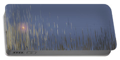 Portable Battery Charger featuring the digital art Sunset Across The Lake by Gina Harrison