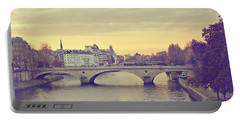 Sunset Across The Seine Portable Battery Charger