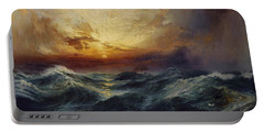 Sunset After A Storm Portable Battery Charger by Thomas Moran