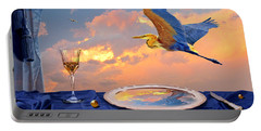 Portable Battery Charger featuring the digital art Sunset by Alexa Szlavics
