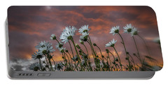 Sunset And Daisies Portable Battery Charger