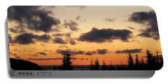 Sunset And Dark Clouds Portable Battery Charger by Barbara Griffin