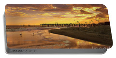 Sunset And Gulls Portable Battery Charger