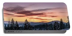 Sunset And Mountains Portable Battery Charger