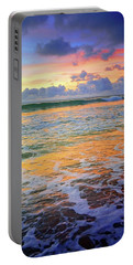 Portable Battery Charger featuring the photograph Sunset And Sea Foam by Tara Turner