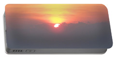 Portable Battery Charger featuring the photograph Sunset And The Storm by Sandi OReilly