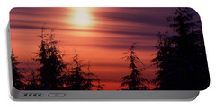 Sunset And Trees Two  Portable Battery Charger by Lyle Crump