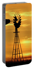 Sunset And Windmill 15 Portable Battery Charger