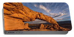Portable Battery Charger featuring the photograph Sunset Arch by Dustin LeFevre