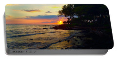 Sunset At A-bay Portable Battery Charger