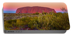 Sunset At Ayers Rock Portable Battery Charger