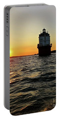 Portable Battery Charger featuring the photograph Sunset At Baltimore Light  by Nancy Patterson
