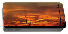 Sunset At Blackwater National Wildlife Refuge Portable Battery Charger