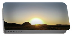 Sunset At Castle Butte Sk Portable Battery Charger