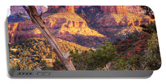 Sunset At Cathedral Rock Portable Battery Charger by Alexey Stiop