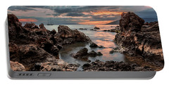 Portable Battery Charger featuring the photograph Sunset At Charley Young Beach by Susan Rissi Tregoning
