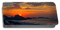 Sunset At Copacabana Portable Battery Charger