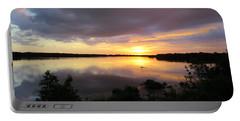 Sunset At Ding Darling Portable Battery Charger by Melinda Saminski