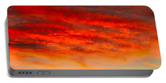 Sunset At Eaton Rapids 4826 Portable Battery Charger