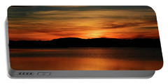 Sunset At Freezeout Portable Battery Charger